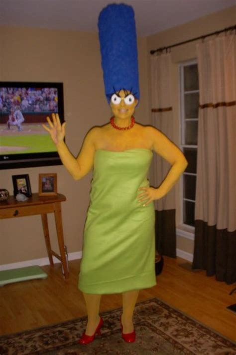 homemade marge simpson costume  images marge