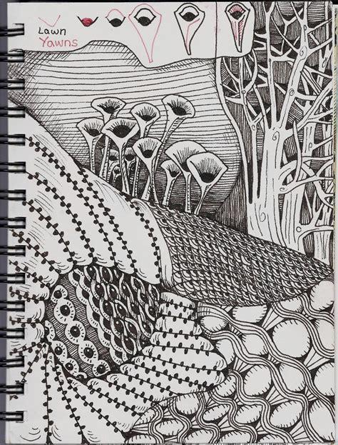 tangle pattern doodle tangle pattern lawnyawns zentangle tanglepatterns