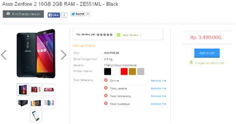 Asus Zenfone 2 Ram 2gb Di Indonesia ini tipe pilihan warna dan harga asus zenfone 2 di indonesia jeripurba