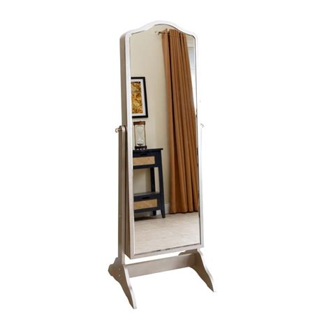 abbyson living sophie floor mirror and jewelry armoire in