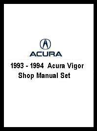 1993 1994 acura vigor shop manual set
