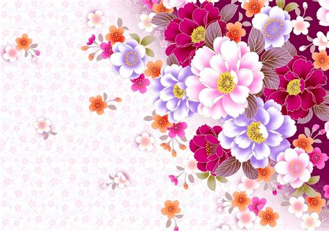 design background flower professional flower pattern free ppt backgrounds for your