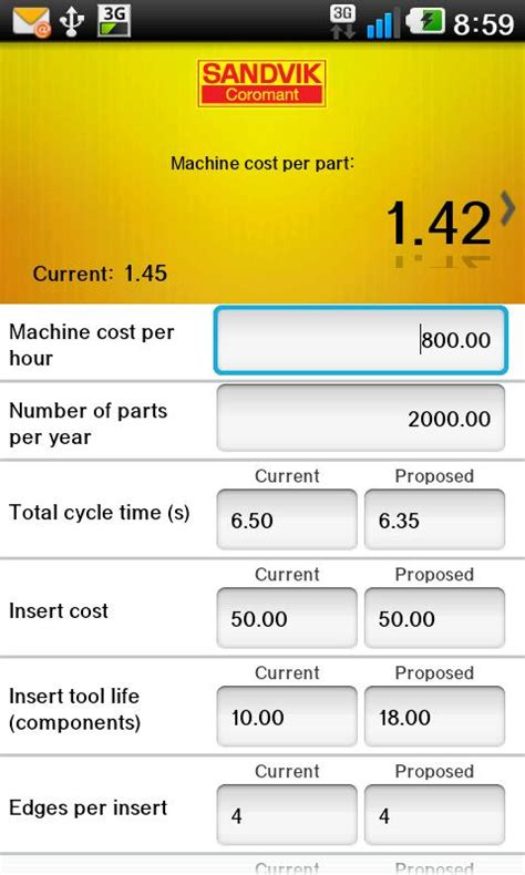 Speed Read Feed For February 25 2007 by Sandvik Coromant Calculator Android Apps On Play
