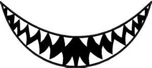 animal decals shark teeth decal sticker