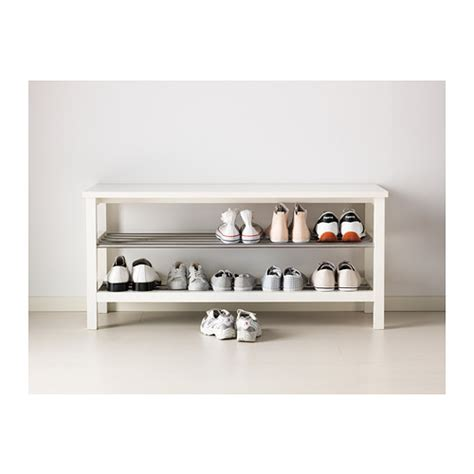 shoe bench ikea tjusig bench with shoe storage white 108x50 cm ikea
