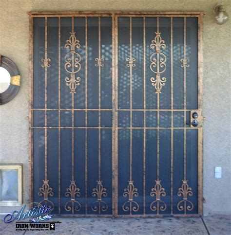 Wrought Iron Patio Doors Custom Wrought Iron Patio Security Door With Faux Finish