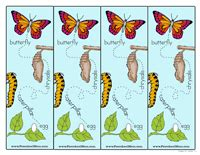 printable butterfly bookmarks butterfly preschool printables