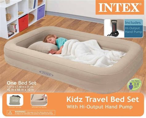 inflatable toddler bed intex travel bed kids child inflatable airbed toddler