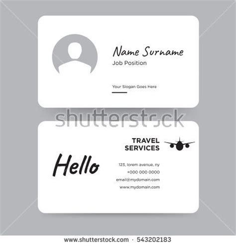 personal card template for word salon business card design template stock vector