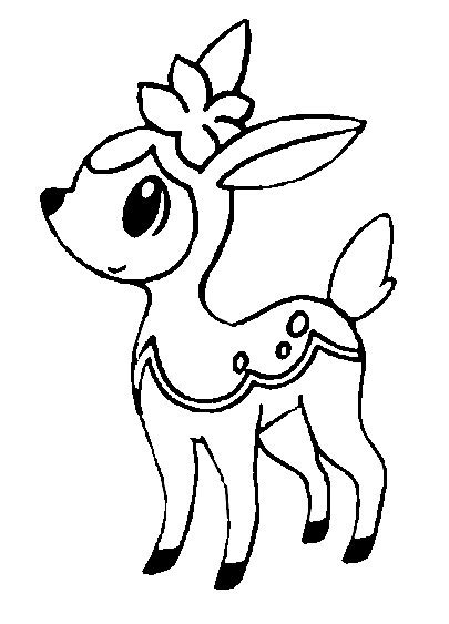 pokemon coloring pages deer free coloring pages of deerling from pokemon