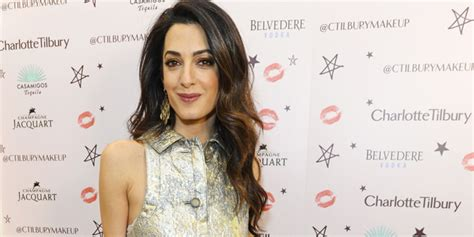 is amal clooney hair one length here s why amal clooney s hair looks perfect all the time