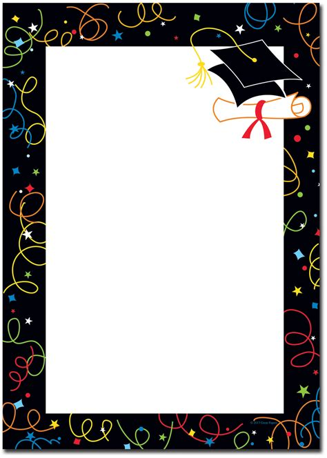 Borders For Graduation Name Cards Template by Graduation Borders Graduation Grad Border