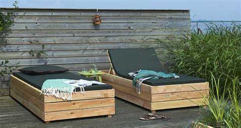 Transat en bois 224 fabriquer pour le jardin deco cool