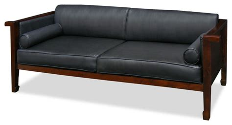 asian couch mulan elmwood black leather sofa asian sofas by