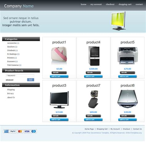 free oscommerce template oscommerce templates websitein10