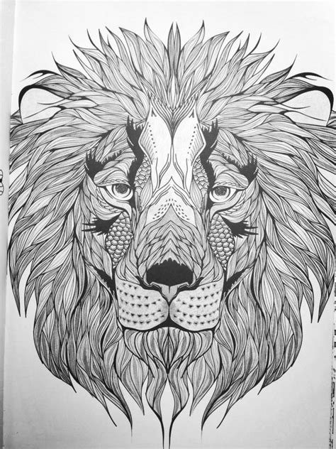 abstract lion coloring pages coloring for adults kleuren voor volwassenen colour
