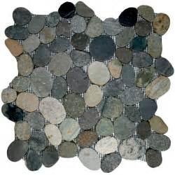 sliced bali ocean pebble tile 12 quot x 12 quot river rock stone