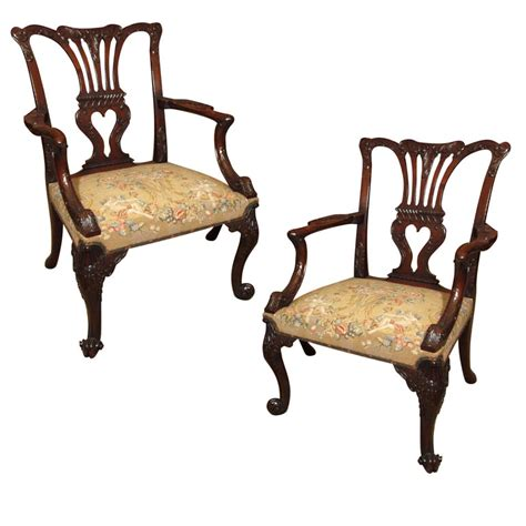 antique armchairs for sale pair of antique english chippendale armchairs eac33 for