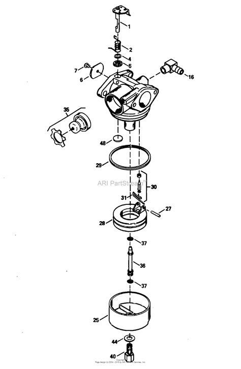 tecumseh tec  parts diagram  carburetor