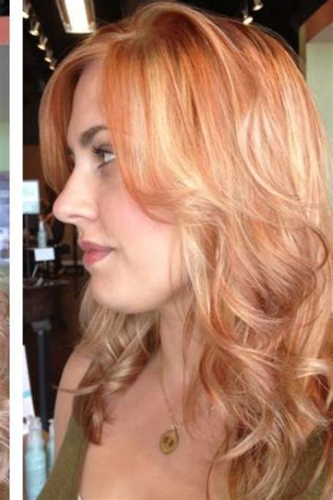 hairstyles red hair blonde highlights red highlights on blonde hair hair pinterest red