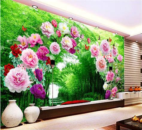 3d wallpaper custom mural non woven 3d room wallpaper flower door flower gallery 3 d background