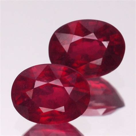 2 2 Ct Ruby Top Blood matching pair 5ct 69 99 2 pcs 9x7mm beautiful
