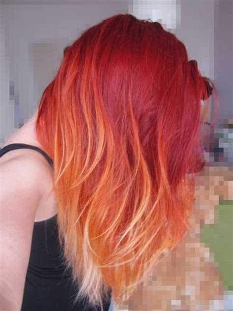 red ombre hair 18 striking red ombre hair ideas popular haircuts