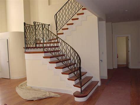banister iron works indoor wood stair railing designs joy studio design