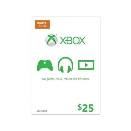 Voucher Xbox Live Xbl 10 Card xbox 25 live gift card microsoft points ms code emailed