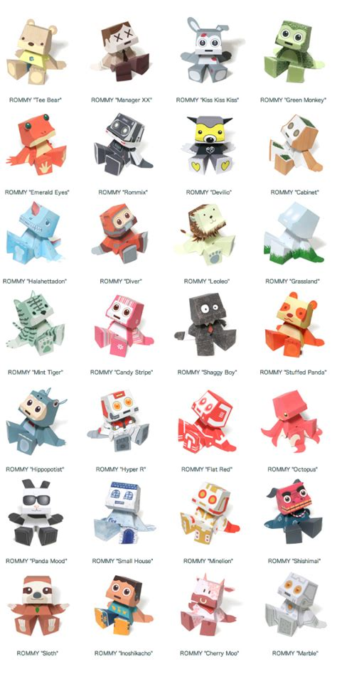 Print And Make Paper Toys - free printable paper toys the crafty stalker