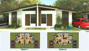 House Perspective With Floor Plan Aspen Heights Subdivision Bianca Model Duplex Type