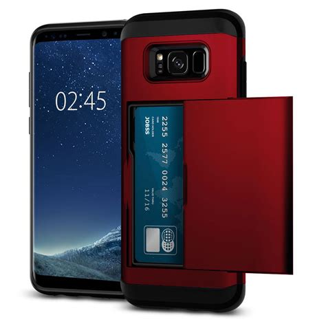 Acc Card Slot Samsung Galaxy A710 Hardcase Cover Armor A7 2 credit card slot holder slide slim cover for samsung galaxy s8 s8 ebay