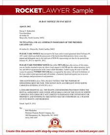 Eviction Notice Template Nc by Eviction Notice Carolina Nc Notice To Vacate Form