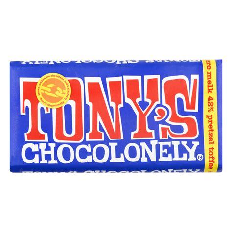 tonys chocolonely donkere melkchocolade pretzel toffee