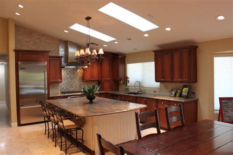 Kitchen Island Designs With Cooktop How Do You Install The Hood Under The Vaulted Ceiling