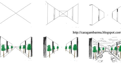 cara dan teknik menggambar untuk pemula gedung dan jalan