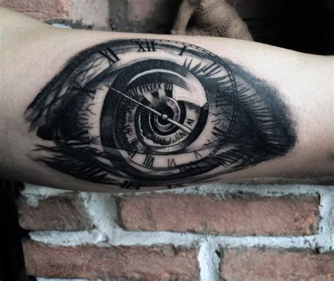 eye tattoos for men 80 clock designs for timeless ink ideas