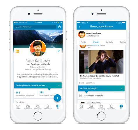 linked in mobile how to optimize your linkedin content and get insights on