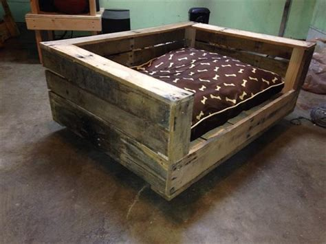 pallet dog bed plans diy rustic pallet dog bed pallet furniture plans