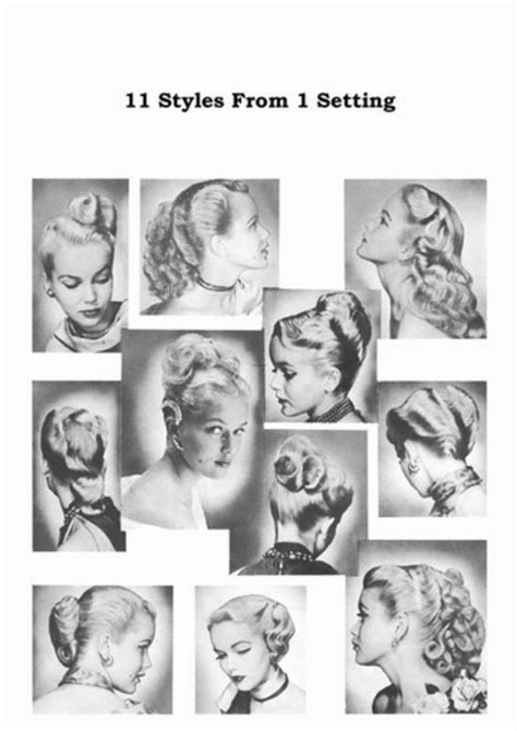 50s Swing Hairstyles by Haircuts For Hair 1950s Atomic Hairstyle Book Create