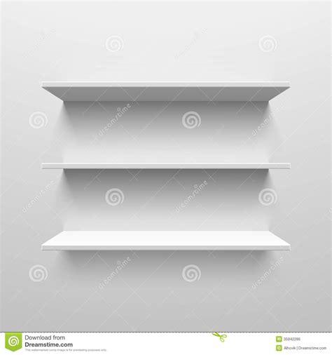 Wall shelves stock vector. Illustration of background