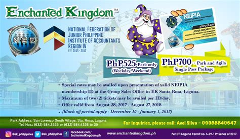 enchanted kingdom tickets 2015 enchanted kingdom entrance fee ticket price and sales