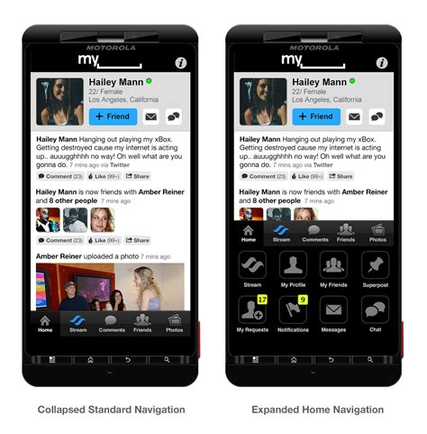 myspace for android myspace app on behance