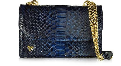 Dijamin Side Bag Phyton Mokita ghibli blue small phyton leather shoulder bag at forzieri