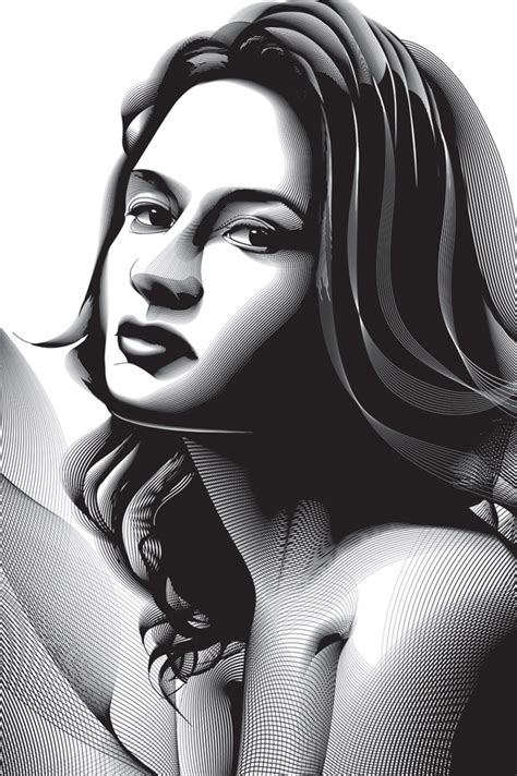 tutorial vector art photoshop cs6 using the blend tool to create a halftone effect portrait