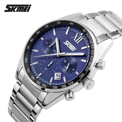 Jam Tangan Bandung Wanita Bregenz Stainless Waterrsistant Skmei skmei jam tangan analog pria 9096cs blue