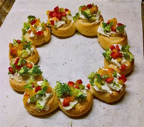 christmas wreath appetizers wreath appetizers soupaddict