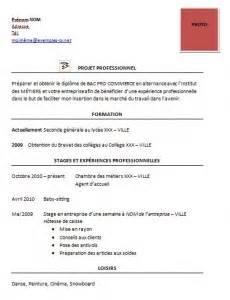 Cv Pros by Exemple De Cv Pour Un Stage Exemples De Cv