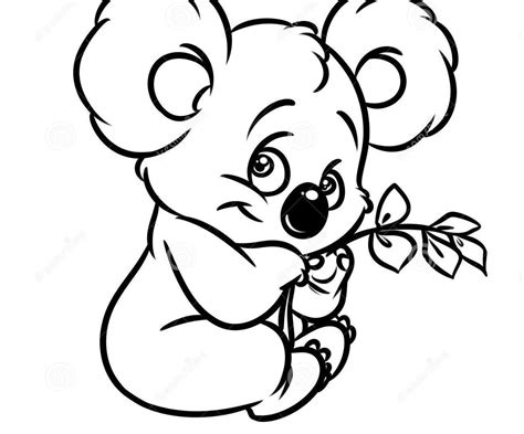 realistic koala coloring pages cute koala coloring pages for kindergarten free printable