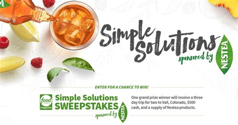 Travel Network Sweepstakes - food network simple solutions sweepstakes foodnetwork com simplesolutionssweepstakes
